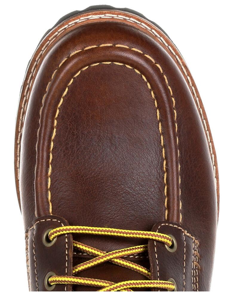 Georgia Boot Men's Small Batch Chukka Shoes - Moc Toe, Brown, hi-res