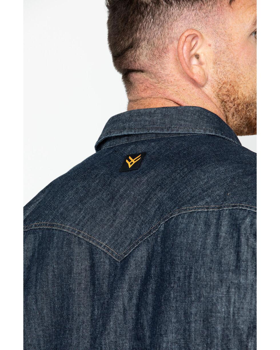 Hawx Men's Denim Snap Western Work Shirt - Big & Tall , Indigo, hi-res