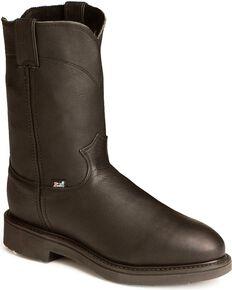Justin Men's Boots Pull-On Boots, Black, hi-res