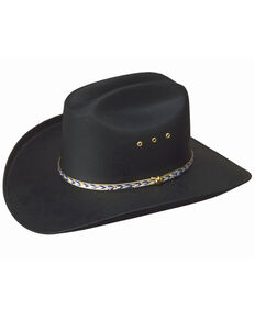 cf3b0134a5e Western Express Men s Black Waterproof Canvas Cowboy Hat