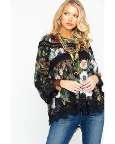 e85b80e75ff Miss Me Women s Floral Print Scalloped Lace Hem Top