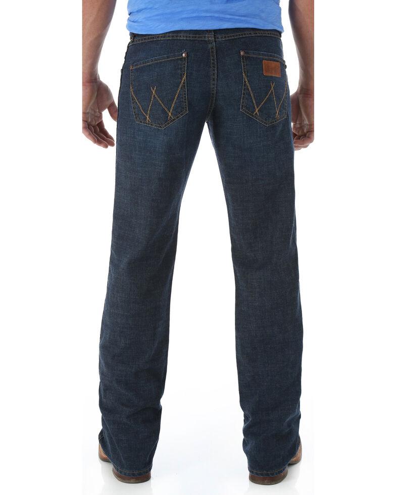 4815e56253d Zoomed Image Wrangler Retro Men's Relaxed Fit Boot Cut Jeans, Denim, hi-res