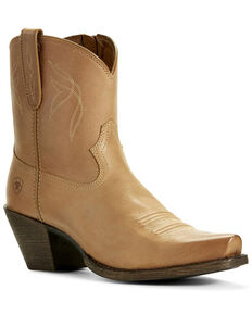 Ariat Women's Lovely Luggage Western Booties - Snip Toe, Brown, hi-res