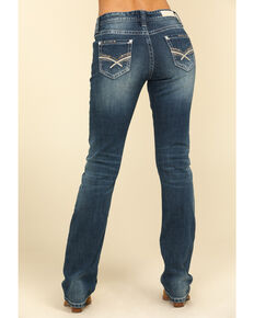 Rock & Roll Cowgirl Women's Medium Boyfriend Straight Leg Jeans , Blue, hi-res