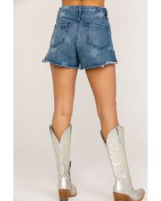 Show Me Your Mumu Women's Arizona High Waisted Stellar Star Shorts, Blue, hi-res