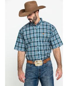 Cinch Men's Multi Plaid Button Short Sleeve Western Shirt , Multi, hi-res