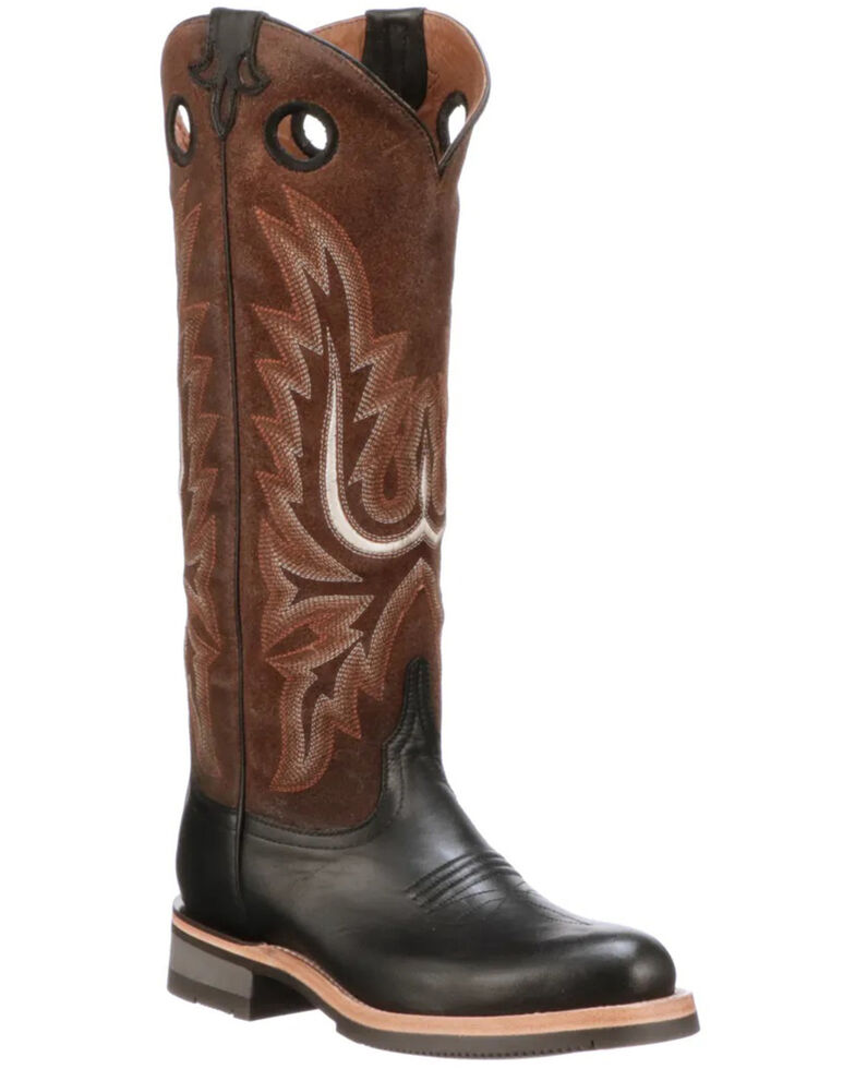 Lucchese Women's Ruth Tall Western Boots - Round Toe, Black, hi-res
