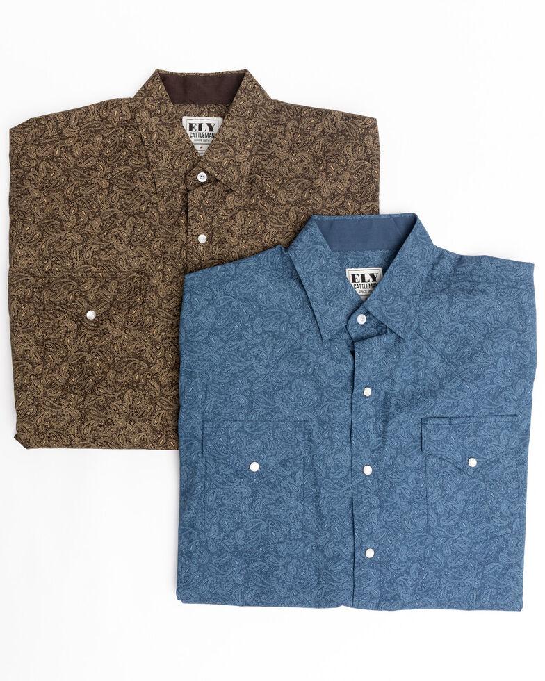Ely Cattleman Men's Assorted Multi Paisley Print Long Sleeve Western Shirt , Multi, hi-res