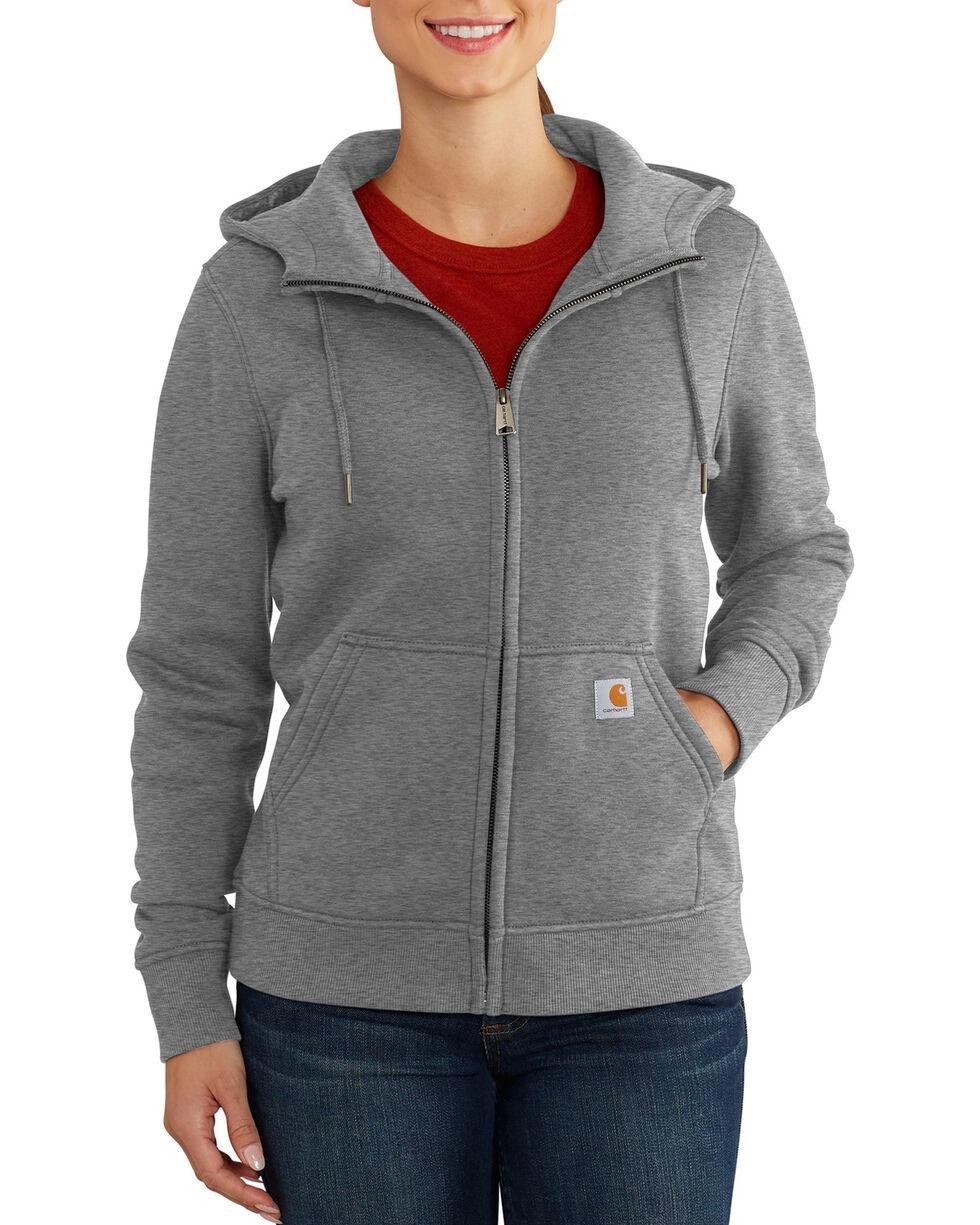 Carhartt Women's Clarksburg Full-Zip Hoodie , Dark Grey, hi-res