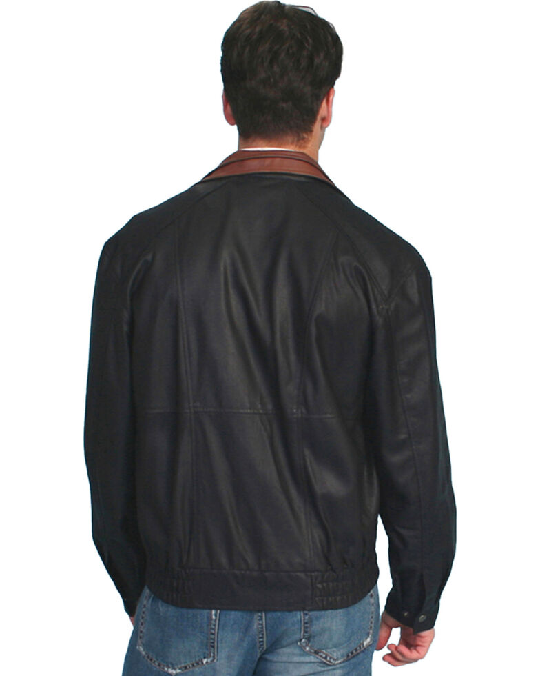 Scully Men's Double Collar Featherlite Leather Jacket, Black, hi-res