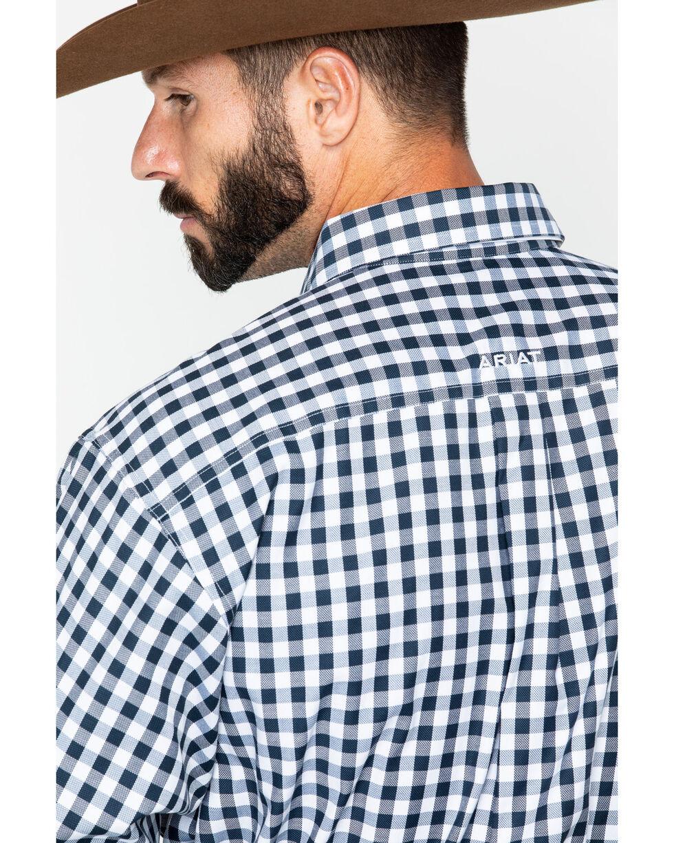 Ariat Men's Bantos Small Plaid Long Sleeve Western Shirt , White, hi-res