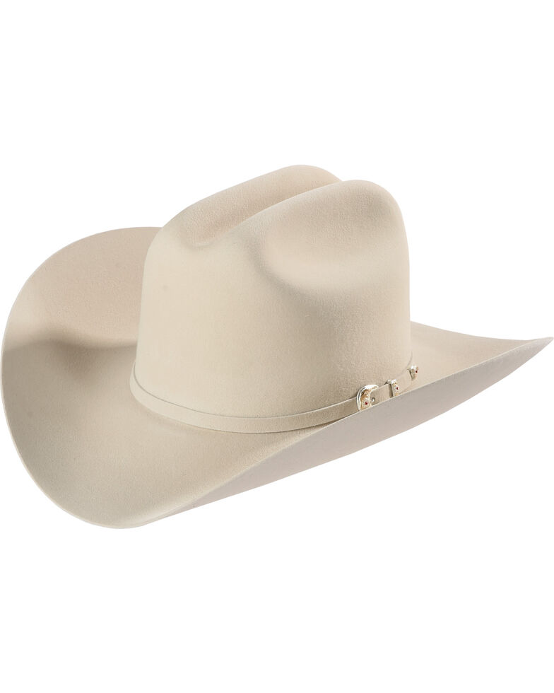 Larry Mahan Men's Silver Belly 6X Fur Felt Hat , Silver Belly, hi-res