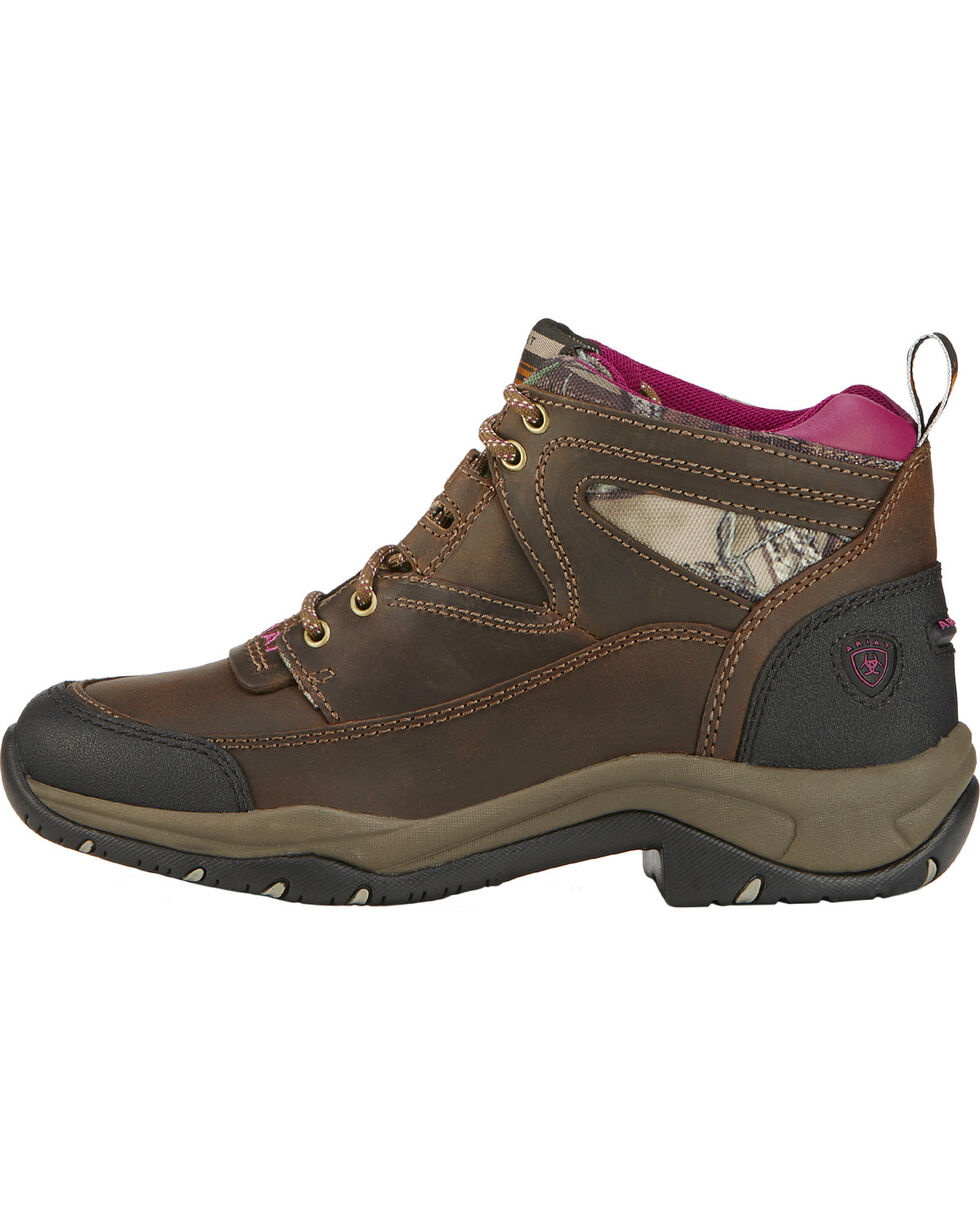 Ariat Women's Camo Lace Up Terrian Boots, Brown, hi-res