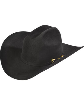 Serratelli Men's Black 6X Fur Felt Latigo Cowboy Hat , Black, hi-res