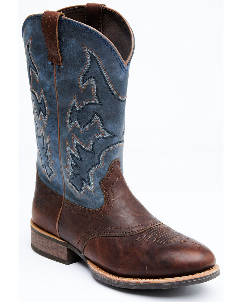Cody James Men's Durance Brass Performance Western Boots - Round Toe, Blue, hi-res