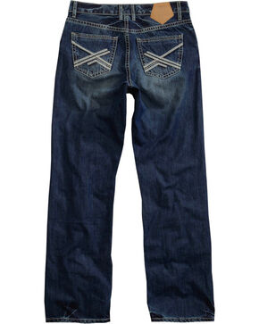Tin Haul Men's Chain Stitch Regular Joe Fit Jeans - Boot Cut, Indigo, hi-res