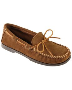 Men's Minnetonka Camp Moccasins - Wide, Dusty Brn, hi-res