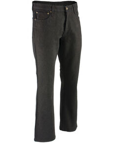 "Milwaukee Leather Men's Black 32"" Aramid Infused 5 Pocket Loose Fit Jeans - Big, Black, hi-res"