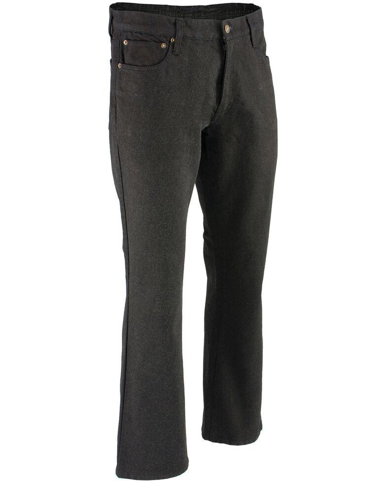"""Milwaukee Leather Men's Black 32"""" Aramid Infused 5 Pocket Loose Fit Jeans - Big, Black, hi-res"""