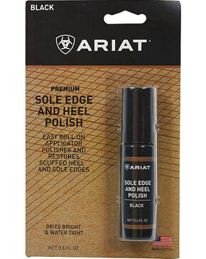 Ariat Boot Care Sole Edge and Heel Polish, Black, hi-res