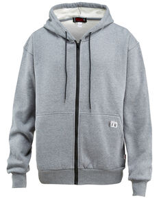 Wolverine Men's Firezero Fleece Zip Front Work Hoodie , Grey, hi-res