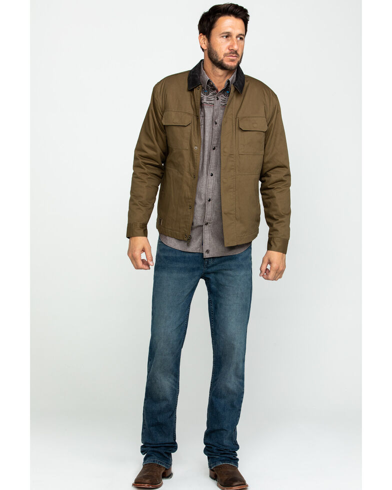 Cody James Men's Saddler Ranch Slub Canvas Jacket - Big , Lt Brown, hi-res