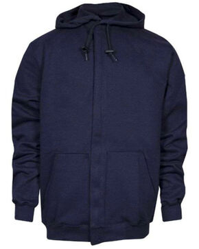 NSA Men's FR Heavyweight Pullover Hooded Sweatshirt, Navy, hi-res