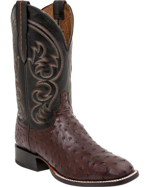 Lucchese Men's Josh Ostrich Exotic Boots, Sienna, hi-res