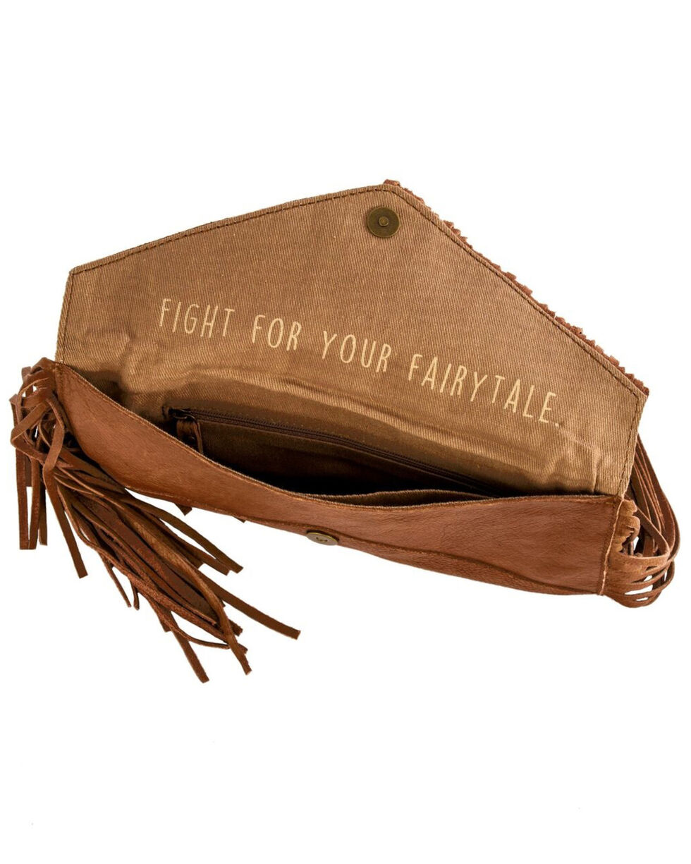 STS Ranchwear Women's Envelope Leather Clutch, Brown, hi-res
