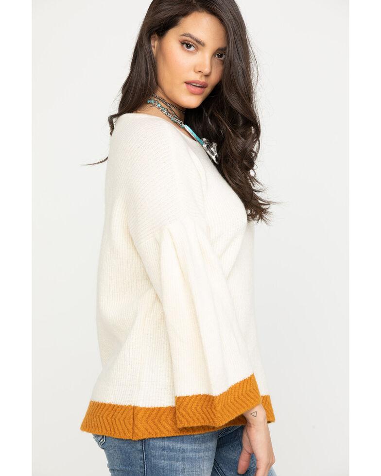 Wrangler Women's Ivory Bell Sleeve Sweater, Ivory, hi-res