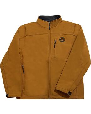 HOOey Men's Tan Soft Shell Micro-Fleece Jacket , Tan, hi-res