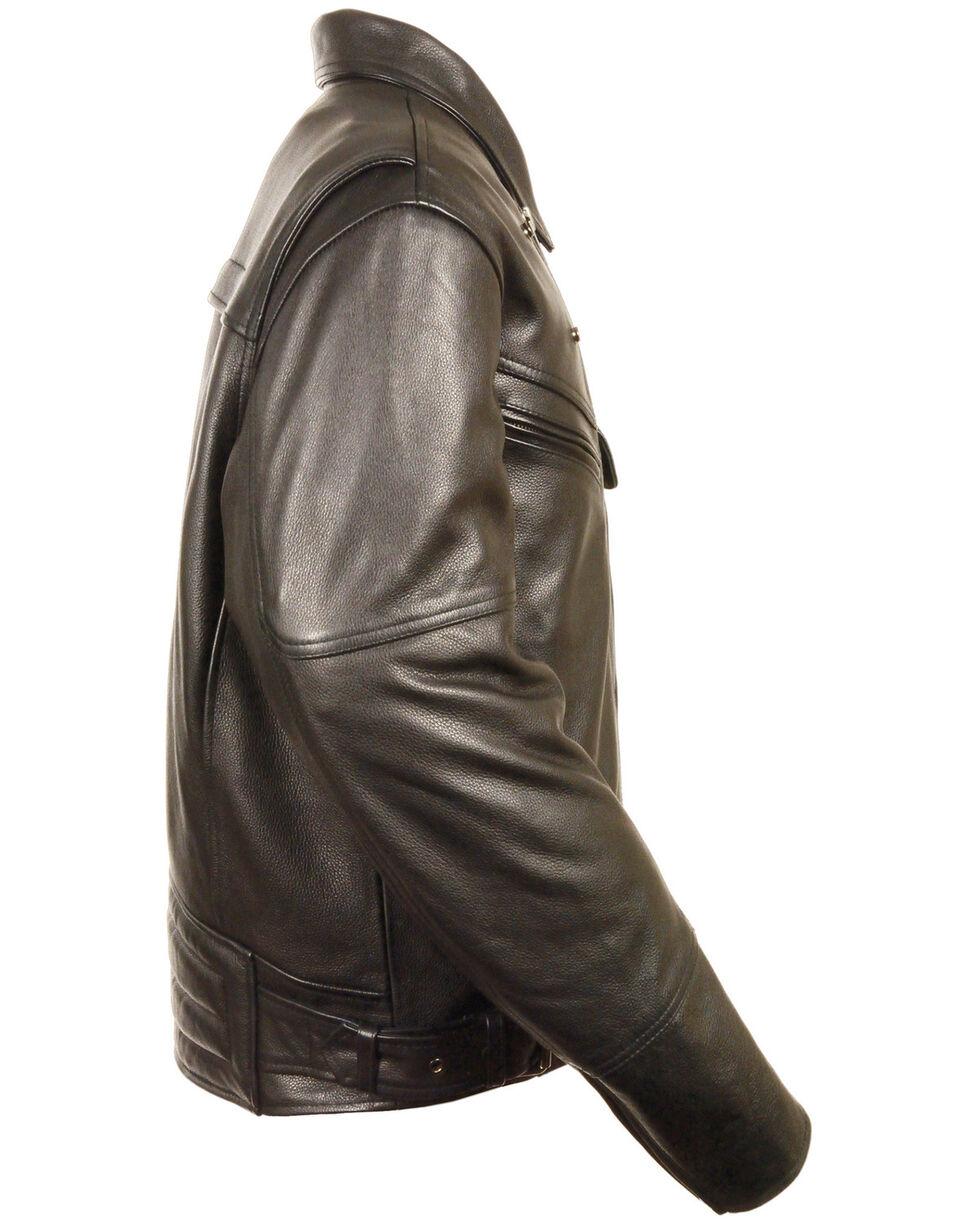 Milwaukee Leather Men's Side Belt Utility Pocket Motorcycle Jacket, Black, hi-res