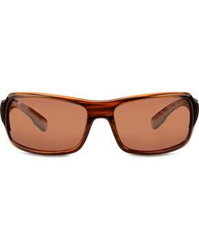 Hobie Men's Copper Shiny Wood Grain Polarized Malibu Sunglasses , Brown, hi-res