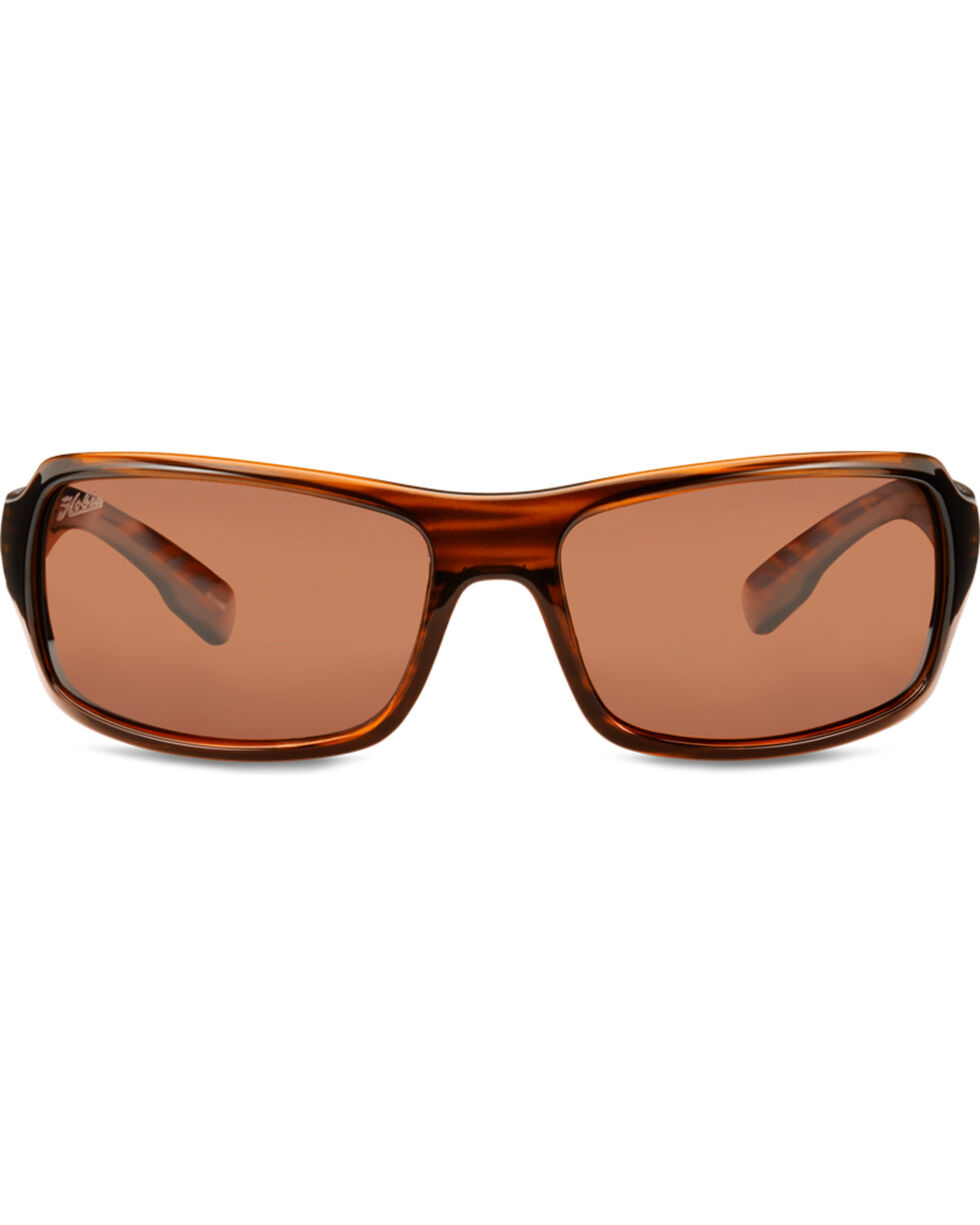 Hobie Men's Copper Shiny Wood Grain Polarized Malibu Sunglasses , Brown, hi-res