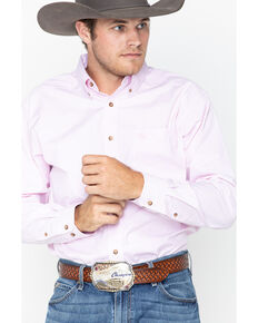 Ariat Men's Pink Striped Long Sleeve Western Shirt, Pink, hi-res