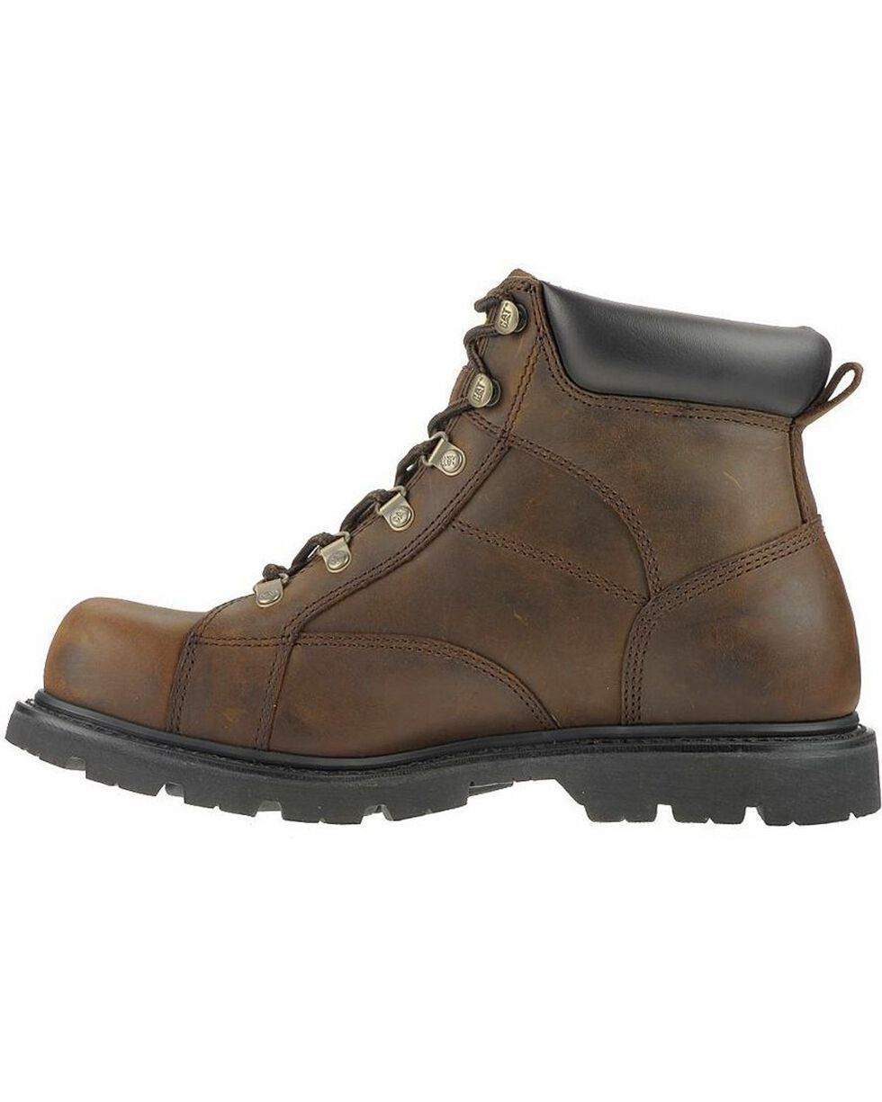 CAT Men's Mortar Work Boots, Dark Brown, hi-res