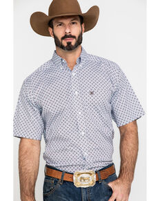 Ariat Men's Lockhart Stretch Geo Print Short Sleeve Western Shirt - Tall , Multi, hi-res