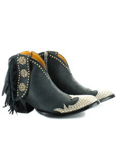 Old Gringo Women's Cheryl Snake Western Boots - Round Toe, Black, hi-res