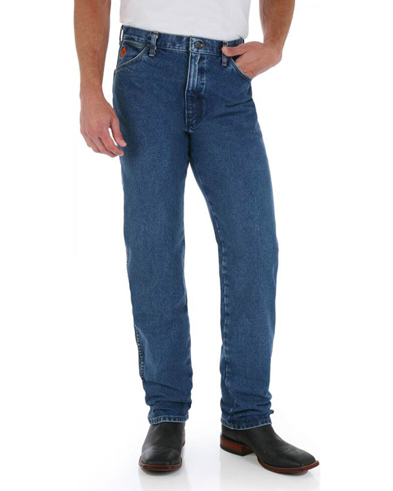 Wrangler Men's Blue FR Flame-Resistant Original Fit Jeans - Straight Leg , Blue, hi-res