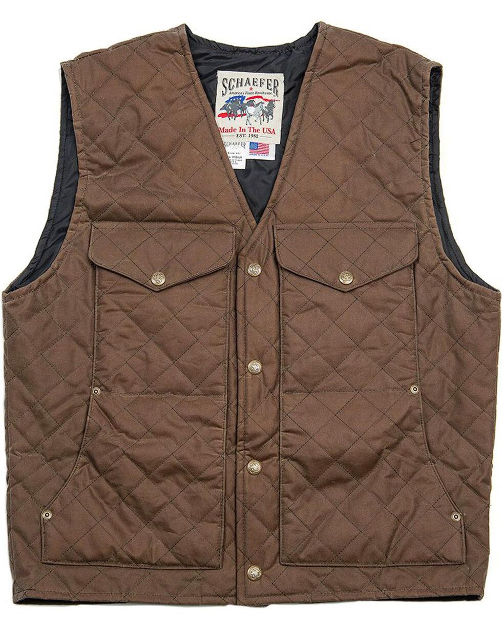 Schaefer Outfitter Men's Oak Blacktail Quilted Rangewas Vest , Dark Green, hi-res