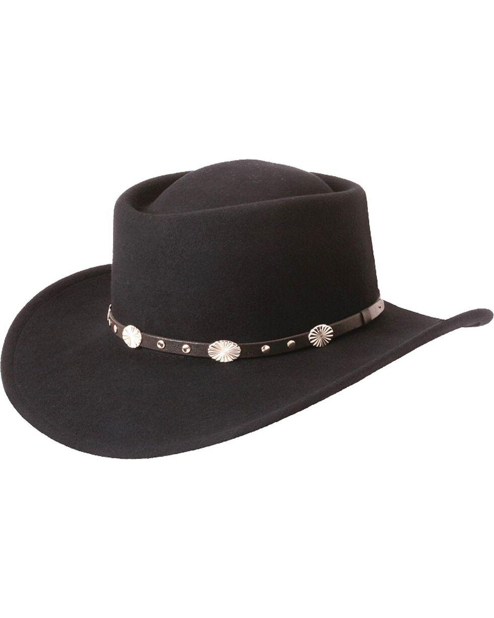 Silverado Gambler Wool Felt Hat, Black, hi-res