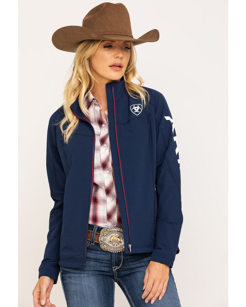 Ariat Women's Team Agile Softshell Jacket , Navy, hi-res