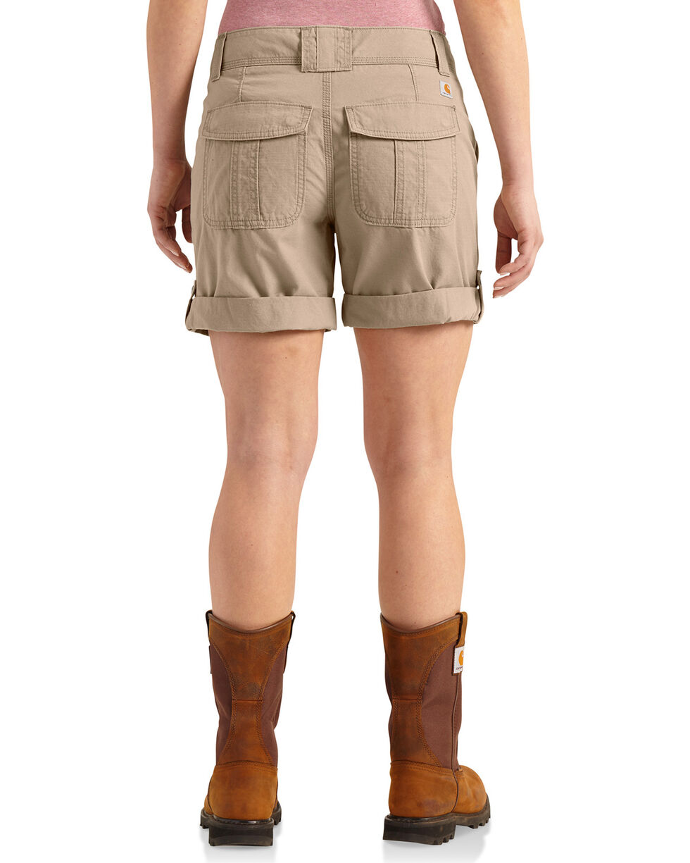 Carhartt Women's Relaxed Fit El Paso Shorts, Beige/khaki, hi-res