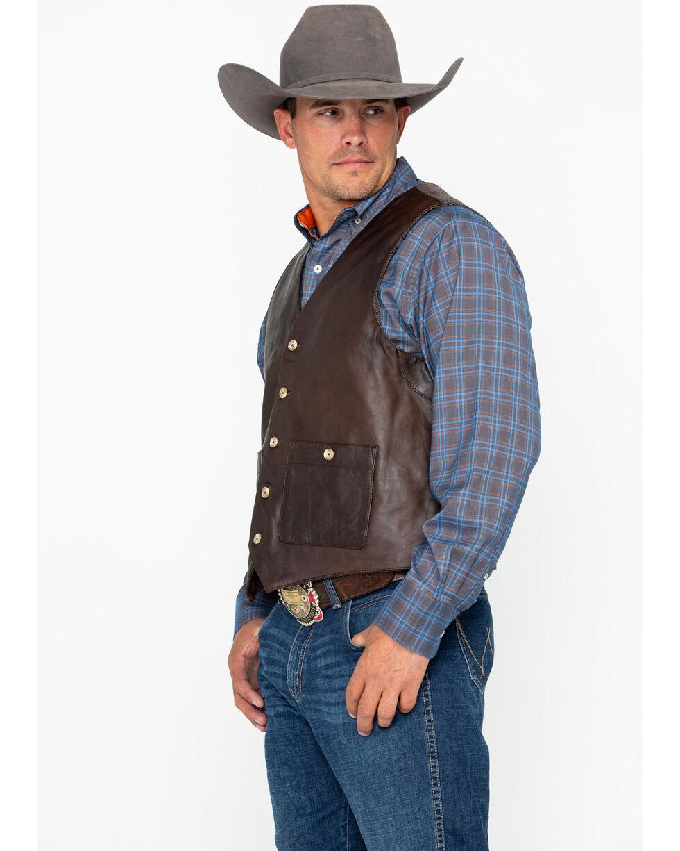 Outback Trading Men's Wynard Button Pocket Vest , Brown, hi-res
