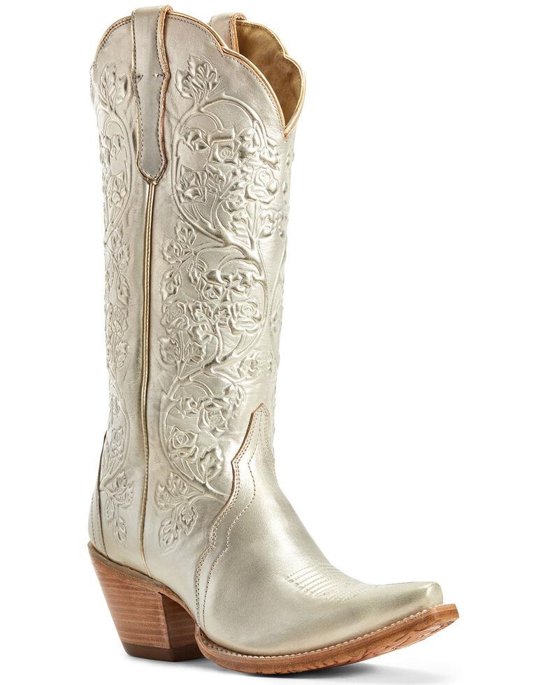 Ariat Women's Platinum Gold Western Boots - Snip Toe, Beige/khaki, hi-res