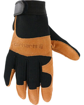 Carhartt Men's High Dexterity Work Gloves, Black, hi-res