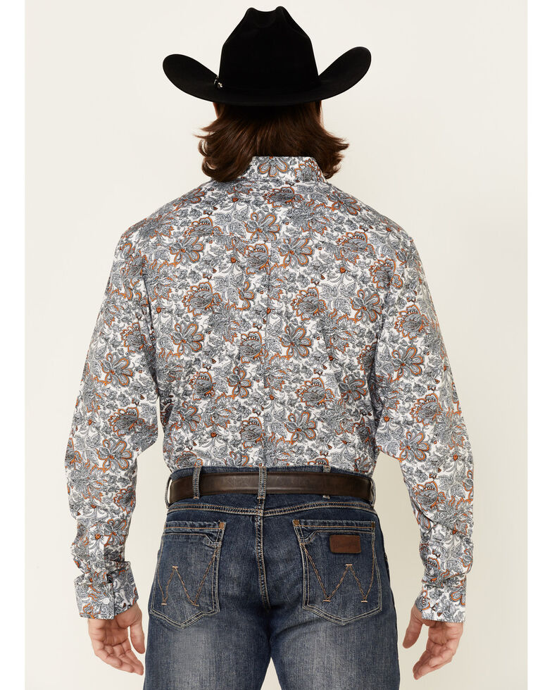 Cody James Core Men's Rein In Large Floral Print Long Sleeve Button-Down Western Shirt, Multi, hi-res
