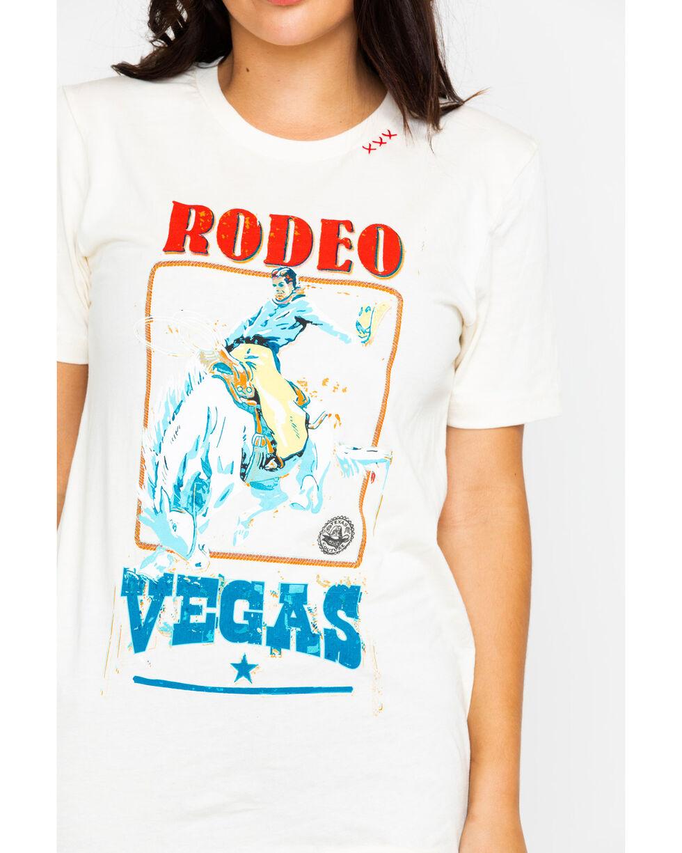 Bohemian Cowgirl Women's Rodeo Vegas Graphic Tee , Cream, hi-res