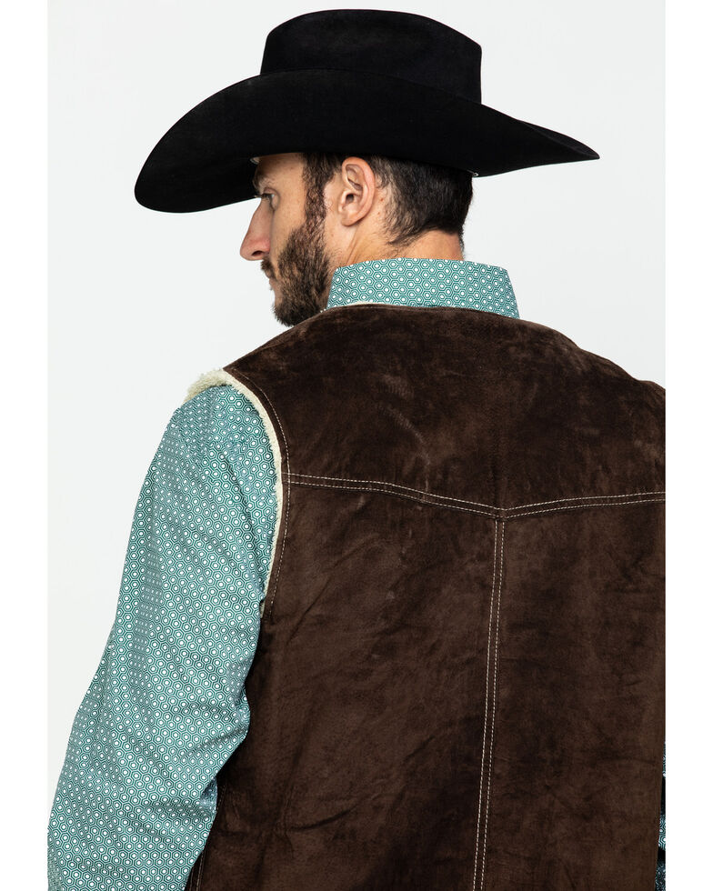 Scully Leatherwear Men's Brown Boar Suede Hunting Vest , Brown, hi-res