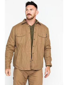 Hawx® Men's Canvas Work Shirt Jacket , Brown, hi-res